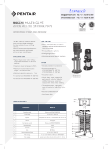 Lenntech NOCCHI MULTINOX-VE VERTICAL MULTI-CELL CENTRIFUGAL PUMPS