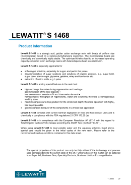 S 1468 LEWATIT Product Information
