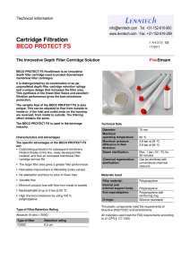 Lenntech Cartridge Filtration BECO PROTECT FS Technical Information