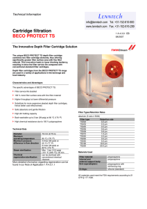 L enntech Cartridge filtration BECO PROTECT TS