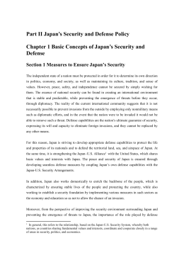 Part II Japan's Security and Defense Policy  Defense