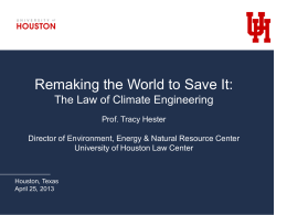Remaking the World to Save It: