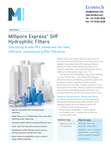 Lenntech Millipore Express SHF Hydrophilic Filters