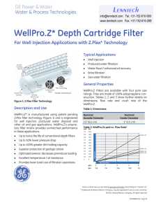 WellPro.Z* Depth Cartridge Filter Lenntech For Well Injection Applications with Z.Plex* Technology