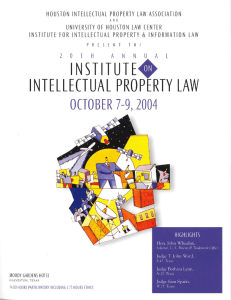 HOUSTON  INTELLECTUAL  PROPERTY  LAW  ASSOCIATION