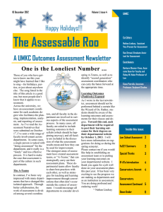 The Assessable Roo A UMKC Outcomes Assessment Newsletter