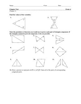 4-2 Triangle Congruence by SSS & SAS