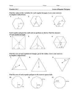 Worksheets Areas Of Regular Polygons Worksheet 11 6 areas of regular polygons class date practice 10 3 polygons