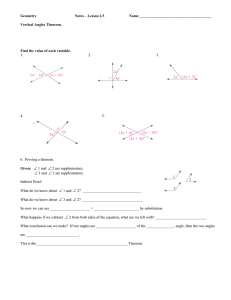 Geometry  Notes – Lesson 2.5 Name ______________________________________