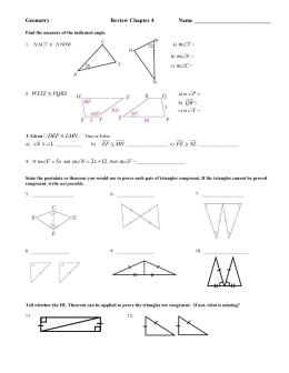 Geometry  Review Chapter 4 Name ___________________________