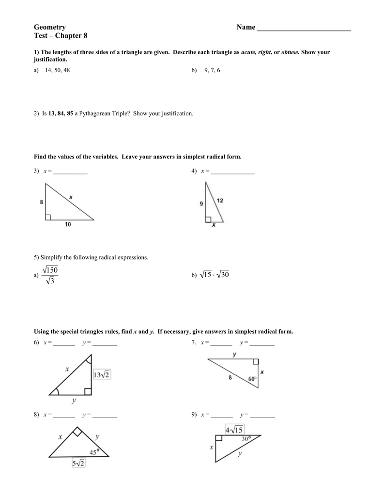 Gina Wilson All Things Algebra Geometry Unit 6 Worksheet 2 ...