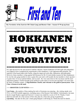 HOKKANEN SURVIVES PROBATION!