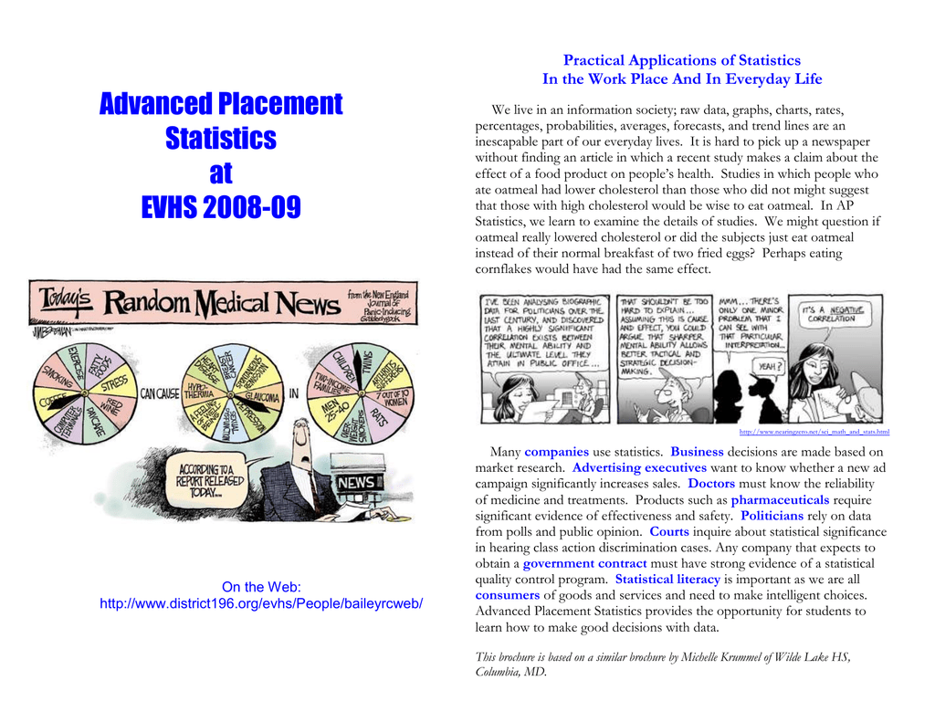 Advanced Placement Practical Applications of Statistics