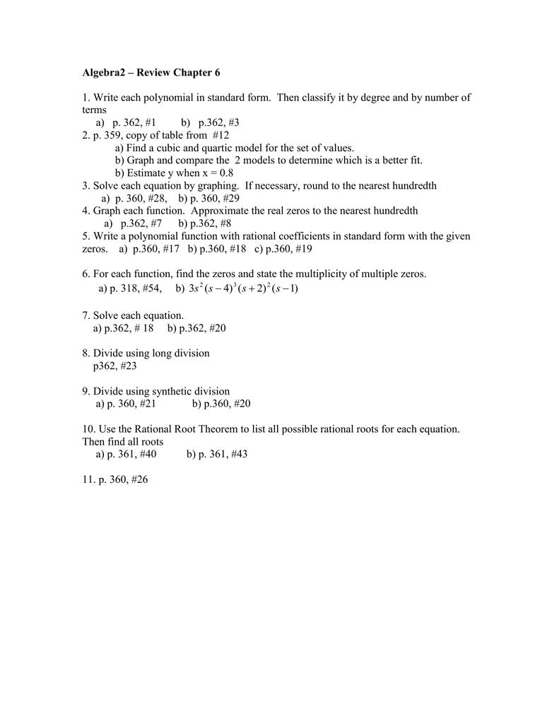 Algebra 2 How