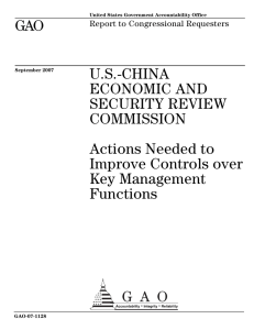 GAO U.S.-CHINA ECONOMIC AND SECURITY REVIEW