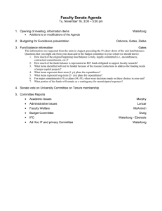 Faculty Senate Agenda