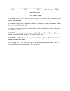 DRAFT * * * * * * * * DRAFT *... Resolution of the UMKC Faculty Senate