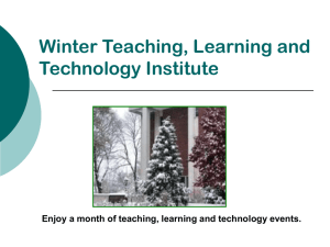 Winter Teaching, Learning and Technology Institute