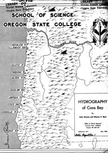 HYDROGRAPHY of Coos Bay By John Queen and Vita