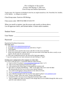 How to Register in SuccessNet Prentice Hall Biology © 2002 itext
