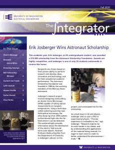 ntegrator The Erik Josberger Wins Astronaut Scholarship In This Issue...