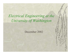 Electrical Engineering at the University of Washington December 2002