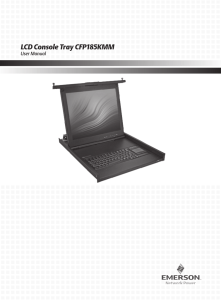 LCD Console Tray CFP185KMM User Manual