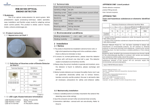 IRM-S01SN OPTICAL SMOKE DETECTOR 1 Summary 1.2  Technical data