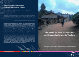 The Nexus between Statelessness and Human Trafficking in Thailand