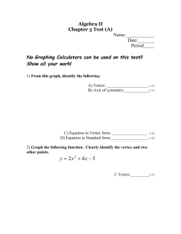 Algebra II Chapter 5 Test (A)  Period:____