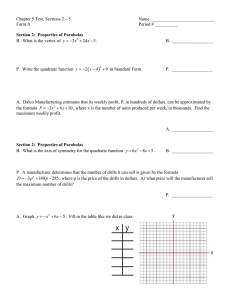 Chapter 5 Test, Sections 2 – 5.  Name ____________________________ Form A
