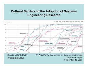 Cultural Barriers to the Adoption of Systems Engineering Research