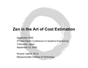 Zen in the Art of Cost Estimation