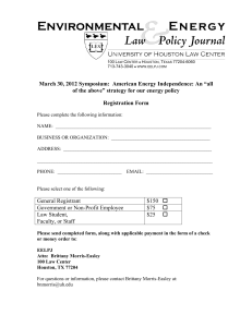 "March 30, 2012 Symposium:  American Energy Independence: An ""all"