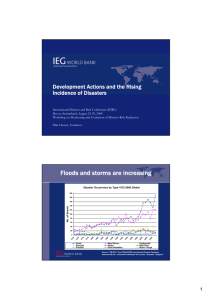 Development Actions and the Rising Incidence of Disasters