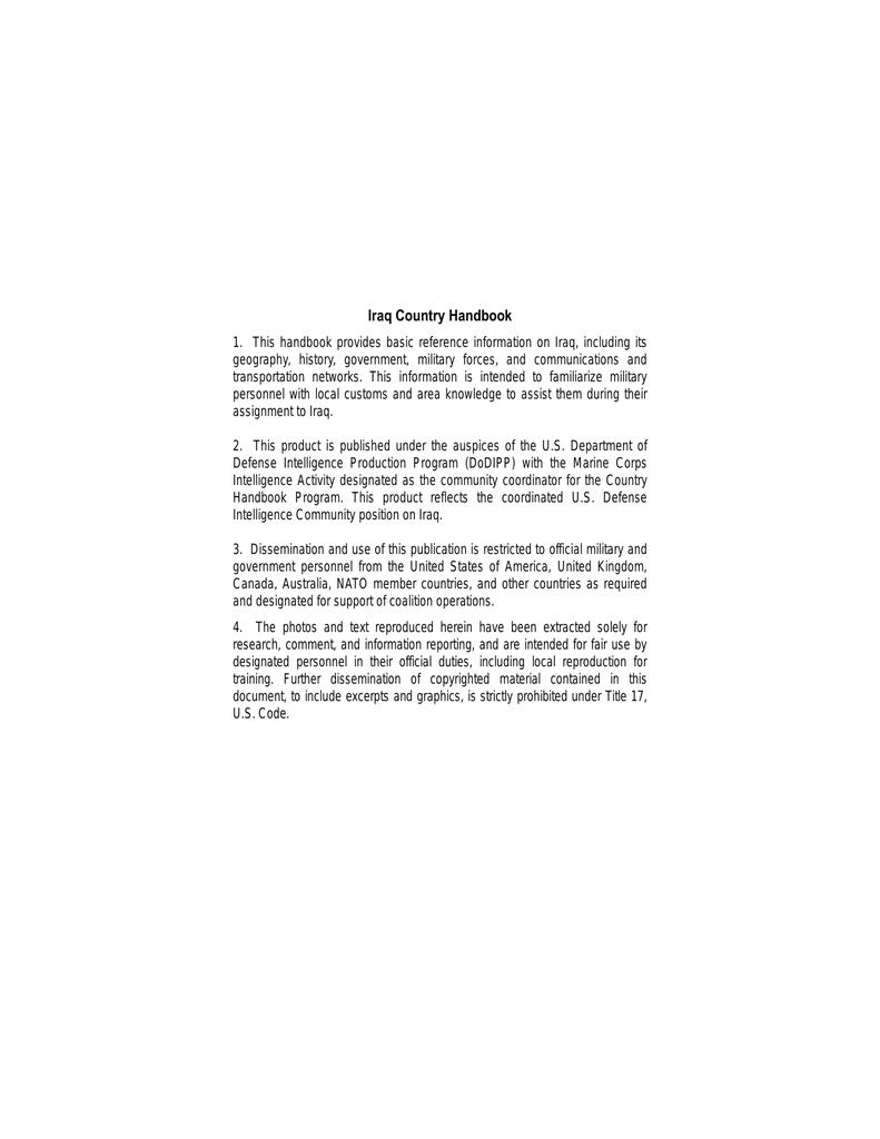 68bc1f0cc3f Iraq Country Handbook