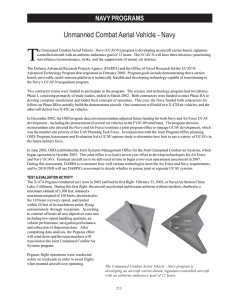 T Unmanned Combat Aerial Vehicle - Navy NAVY PROGRAMS