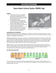 Space Based Infrared System (SBIRS) High AIR FORCE PROGRAMS