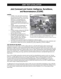 Joint Command and Control, Intelligence, Surveillance, and Reconnaissance (JC2ISR)