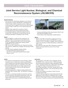 Joint Service Light Nuclear, Biological, and Chemical Reconnaissance System (JSLNBCRS)