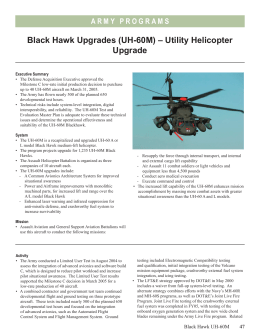 Black Hawk Upgrades (UH-60M) – Utility Helicopter Upgrade