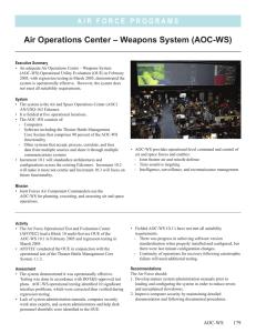 Air Operations Center – Weapons System (AOC-WS)