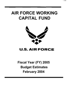 AIR FORCE WORKING CAPITAL FUND Fiscal Year (FY) 2005 Budget Estimates