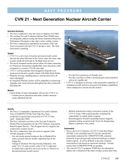 CVN 21 - Next Generation Nuclear Aircraft Carrier