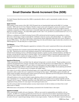 Small Diameter Bomb Increment One (SDB)