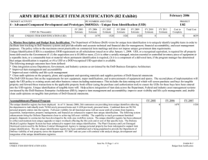 ARMY RDT&E BUDGET ITEM JUSTIFICATION (R2 Exhibit)