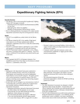 Expeditionary Fighting Vehicle (EFV)