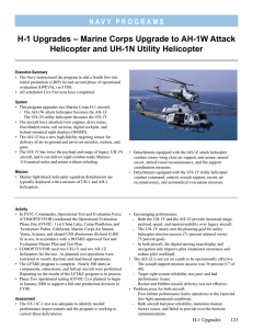 H-1 Upgrades – Marine Corps Upgrade to AH-1W Attack
