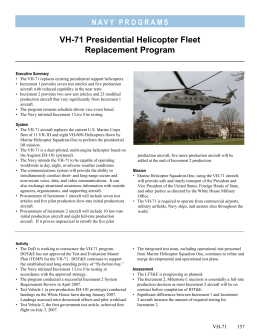 VH-71 Presidential Helicopter Fleet Replacement Program