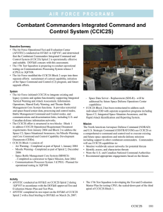 Combatant Commanders Integrated Command and Control System (CCIC2S)